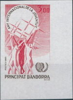 Andorra-French 1985 International Year of the Youth b