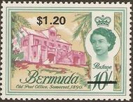 Bermuda 1970 Definitive Issue of 1962 Surcharged p