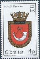 Gibraltar 1985 Royal Navy Crests 4th Group a
