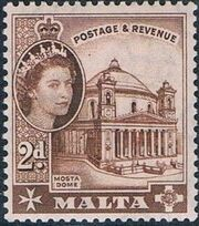 Malta 1956 Elizabeth II e
