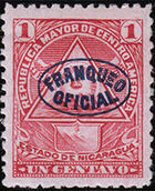 Nicaragua 1898 Official Stamps Overprinted in Blue a