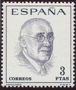 Spain 1966 Famous Spanish - Poets and Dramaturges b