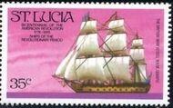 St Lucia 1976 200th Anniversary of American Revolution - Revolutionary Era Ships f