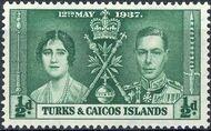 Turks and Caicos Islands 1937 George VI Coronation a