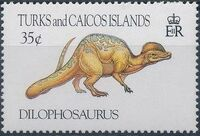 Turks and Caicos Islands 1993 Prehistoric Animals d