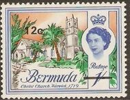 Bermuda 1970 Definitive Issue of 1962 Surcharged i