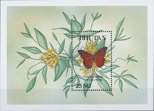 Bhutan 1990 Butterflies m