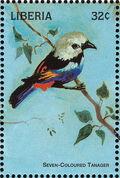 Liberia 1998 Birds of the World b