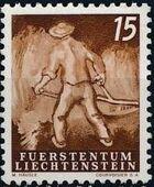 Liechtenstein 1951 Farm Labor c