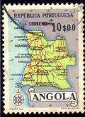 Angola 1955 Map of Angola g