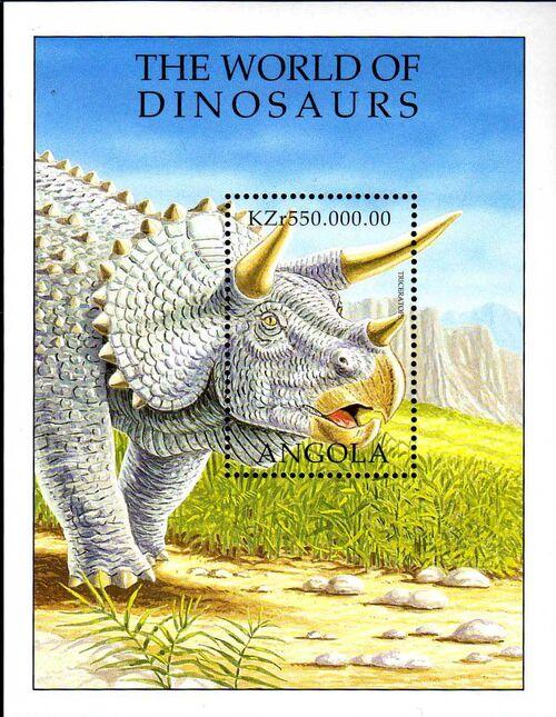 Angola 1998 Prehistoric Animals (3rd Group) SSa