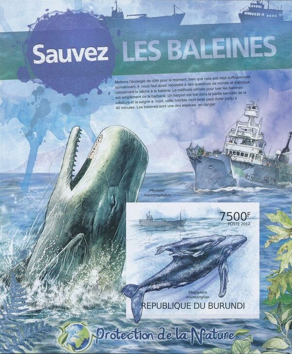 Burundi 2012 Protection of Nature - Save the Whales d