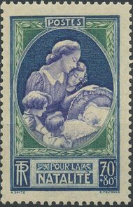 France 1939 Surtax for France's Repopulation Campaign a