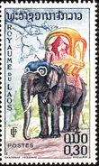 Laos 1958 Elephants c