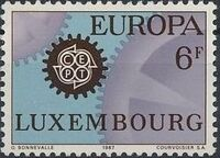 Luxembourg 1967 EUROPA - CEPT b