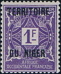 Niger 1921 Postage Due Stamps of Upper Senegal and Niger Overprinted h