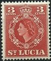 St Lucia 1953 Queen Elizabeth II and Arms of St Lucia c.jpg
