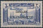 "Alexandretta 1938 Air Post Stamps of Syria (1937) Overprinted ""SANDJAK D'ALEXANDRETTE"" in Red or Black d"