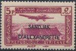 "Alexandretta 1938 Air Post Stamps of Syria (1937) Overprinted ""SANDJAK D'ALEXANDRETTE"" in Red or Black e"