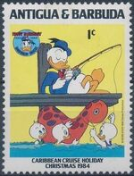 Antigua and Barbuda 1984 Disney - Christmas - 50th Anniversary of the Birth of Donald Duck a