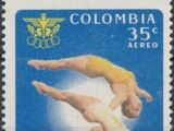 Colombia 1961 4th Bolivarian Games - Air Post Stamps