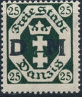 """Danzig 1921 Issues from 1921-1922 Overprinted """"D M"""" e"""