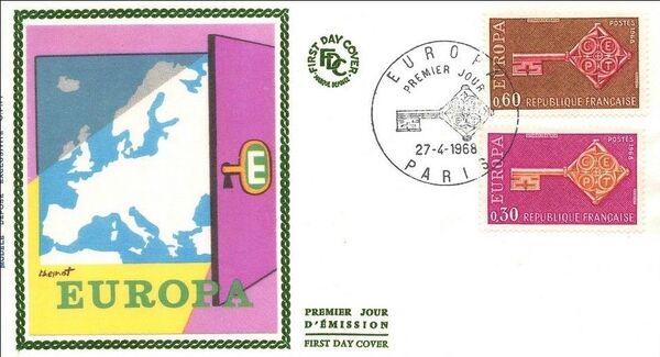 France 1968 EUROPA FDCa