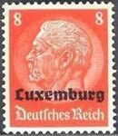 German Occupation-Luxembourg 1940 Stamps of Germany (1933-1936) Overprinted in Black e
