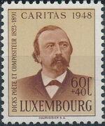 Luxembourg 1948 Edmond de La Fontaine a