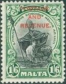 Malta 1928 Definitives of 1926-1927 Ovpt POSTAGE AND REVENUE b