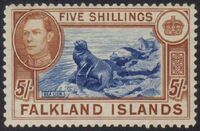 Falkland Islands 1938 George VI and Landscape (1st Issue) h