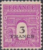 France 1945 Arc of the Triomphe - Allied Military Government j