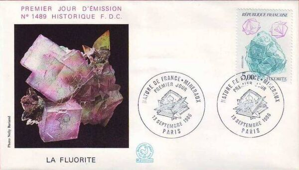 France 1986 Minerals FDCl