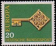 Germany, Federal Republic 1968 Europa a