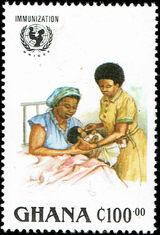 Ghana 1988 UN Universal Immunization Campaign d