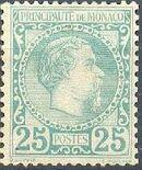 Monaco 1885 Prince Charles III f