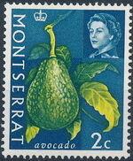 Montserrat 1965 Fruit & Vegetables and Portrait of Queen Elizabeth II b