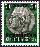 Poland-General Government 1939 Stamps from German Empire 1905 Surcharged and Overprinted l