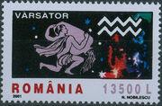 Romania 2001 The Signs of the Zodiac e