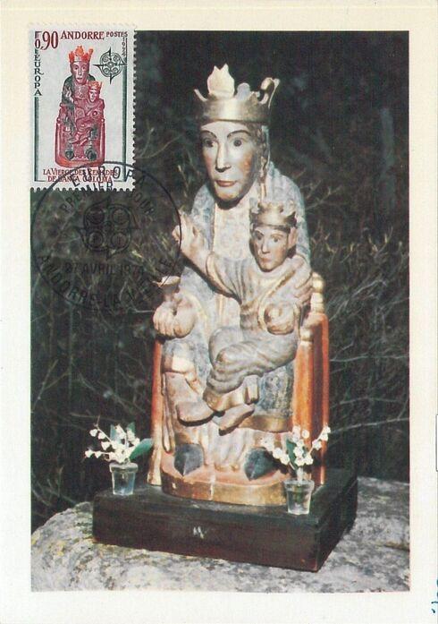 Andorra-French 1974 - Europa - Sculptures MCb