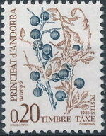 Andorra-French 1985 Flowers (Postage Due Stamps) b