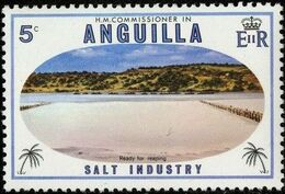 Anguilla 1980 Salt Industry a