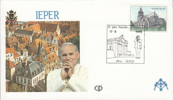 Belgium 1985 Visit of Pope John Paul II FDCr