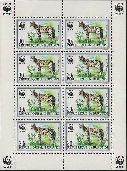 Burundi 1992 WWF Leptailurus serval Sa