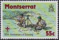 Montserrat 1979 50th Anniversary of Scouting in Montserrat b