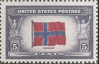 United States of America 1943 Overrun Countries Issue c
