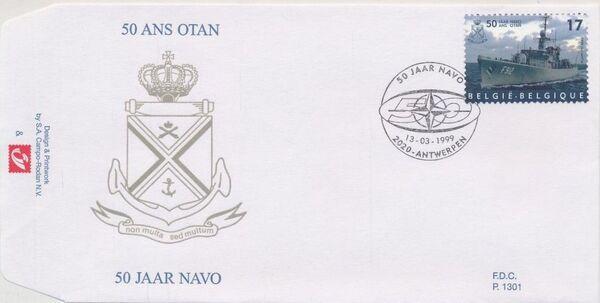 Belgium 1999 50th Anniversary of NATO FDCc