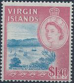 British Virgin Islands 1964 Queen Elizabeth II and Views n