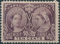 Canada 1897 60th Year of Queen Victoria's Reign h