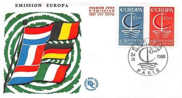 France 1966 EUROPA FDCa